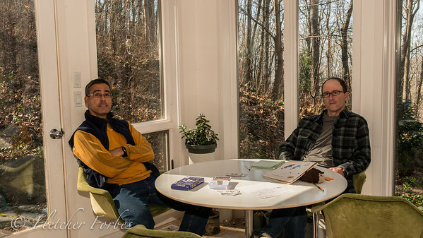 David and Brian on the sun porch overlooking MP's mountain.
