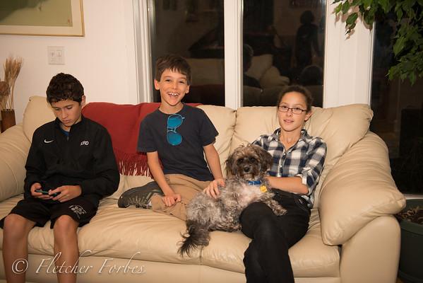 Quentin, Rafa, Toto, and Anna