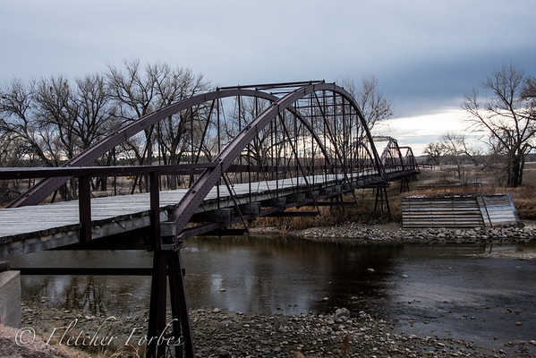 Old bridge to the military outpost.