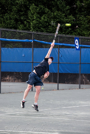 Brian serving. Look at that extension!