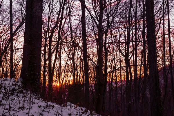 Sunset on MP's mountain.