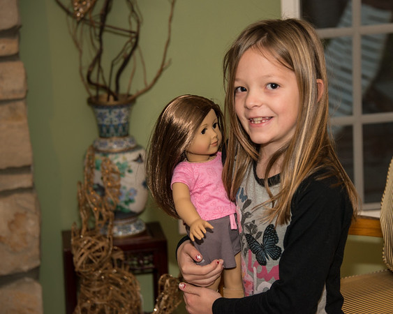 Joss and her American girl doll, which she promptly named McKenzie.