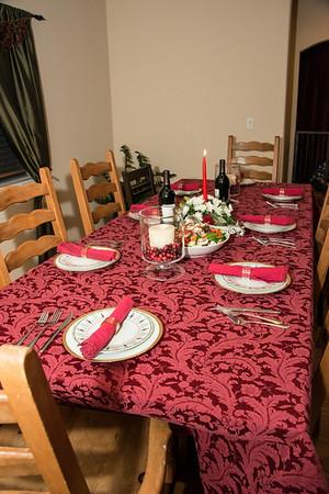 Christmas Eve dinner at Sharon and John Eric's.