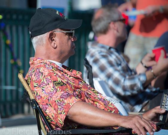 Grandad Coe watching his grandson Tre perform