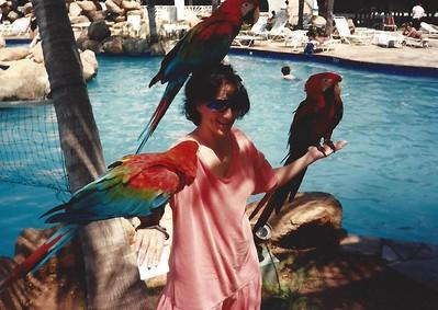 Jacqui Key with birds