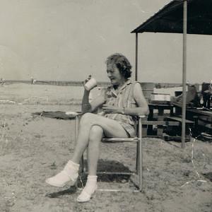 Anna Marie Maddox at the beach