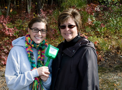 Carlie & Marie at BAS Groundbreaking Oct 2008