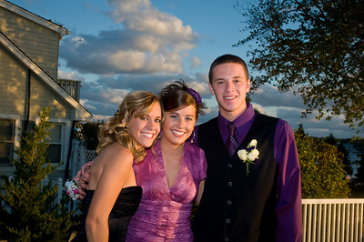 Abby, Carlie & Trevor before the TRS Homecoming Dance 2008