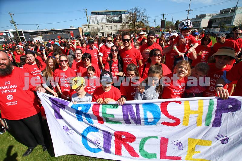 14-9-14. Friendship Circle. Fundraising walk starting at Princes park, Caulfield. Photo: Peter Haskin
