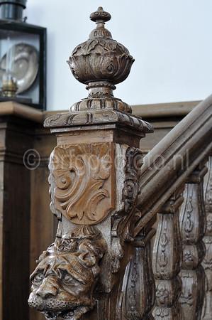 Detail balustrade preekstoel