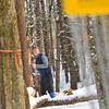 KRISTOPHER RADDER — BRATTLEBORO REFORMER<br /> Ian Martin, of Newfane, lines up his throw during a round of frisbee golf at Living Memorial Park, in Brattleboro, on Thursday, Jan., 2, 2020.