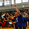 KRISTOPHER RADDER — BRATTLEBORO REFORMER<br /> Hinsdale N.H.'s Matthew Thorpe celebrates after scoring a basket against Fall Mountain Regional School during a unified basketball at the Hinsdale Middle High School on Friday, Jan. 3, 2020. According to the Special Olympics website, Unified Sports is also an integral part of Special Olympics Unified Champion Schools, which was founded in 2008 and funded through the U.S. Office of Special Education Programs at the U.S. Department of Education to use Special Olympics as a way to build inclusion and tolerance in schools.