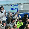 KRISTOPHER RADDER — BRATTLEBORO REFORMER<br /> People cheer on Hinsdale N.H.'s Matthew Thorpe after he scores a point on Friday, Jan. 3, 2020. All the students from Hinsdale Middle High School cheered on the Pacer's unified basketball team as they hosted Fall Regional Mountain during the first home game of the year. According to the Special Olympics website, Unified Sports is also an integral part of Special Olympics Unified Champion Schools, which was founded in 2008 and funded through the U.S. Office of Special Education Programs at the U.S. Department of Education to use Special Olympics as a way to build inclusion and tolerance in schools.