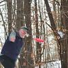 KRISTOPHER RADDER — BRATTLEBORO REFORMER<br /> Jim Olson, of Brattleboro, and Ian Martin, of Newfane, play a round of frisbee golf at Living Memorial Park, in Brattleboro, on Thursday, Jan., 2, 2020.