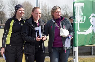 Womens division winners: Sofie Sandström (1st), Natalie Holloköi (2nd), Henna Määttä (3rd)