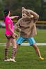 Striped socks amused by Butler bear - 2016-04-02