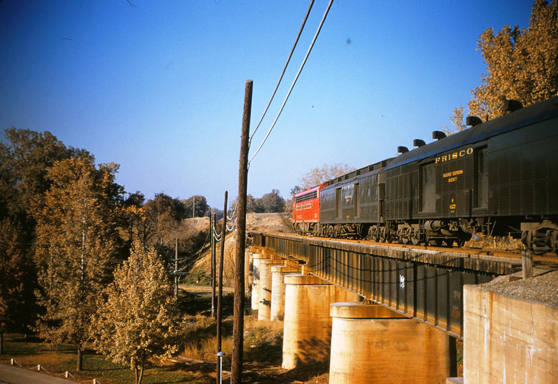 SLSF 56 - Nov 7 1954 - Train 105 Eastbound at mp 12 5 south of St Louis MO