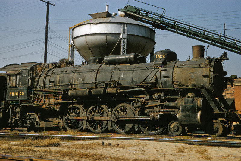 SLSF 96 - Oct 31 1957 - No 1527 4-8-2 at Lindenwood St Louis MO
