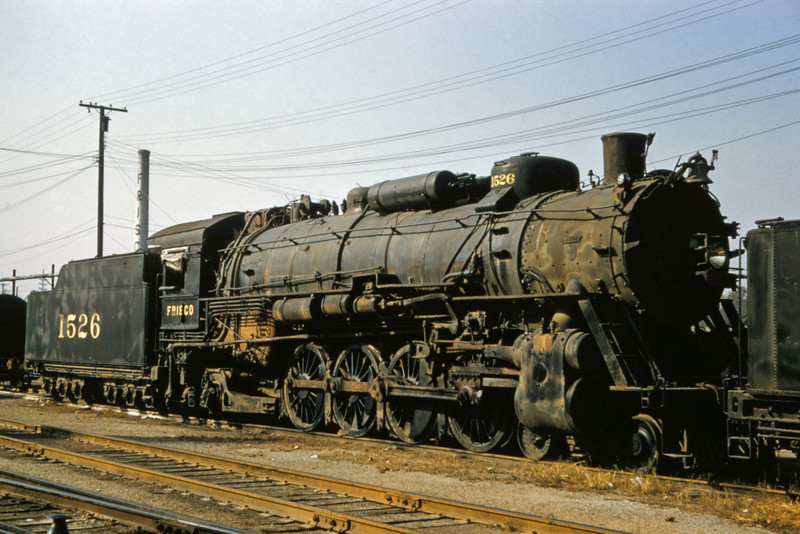 SLSF 93 - Oct 31 1957 - No 1526 4-8-2 at Lindenwood St Louis MO