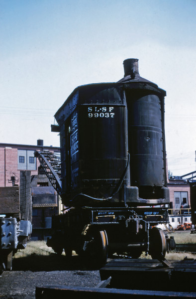 SLSF 44 - Aug 29 1954 - steam crane No 99037 at Lindenwood St Louis MO