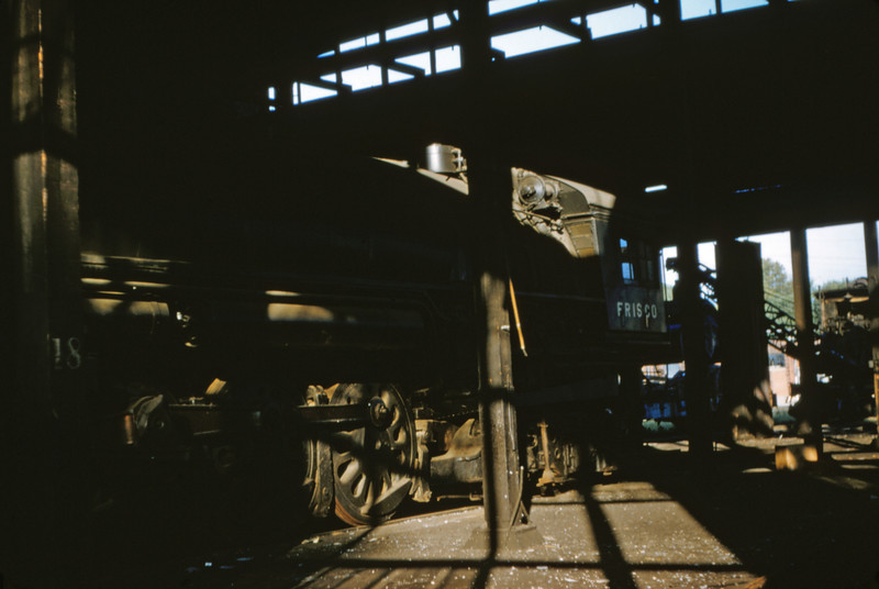 SLSF 11 - Aug 22 1954 - 4 8 4 No 457 in roundhouse Lindenwood MO