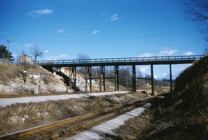 SLSF 64 - Jan 25 1955 - Glenwood Ave bridge Kirkwood MO
