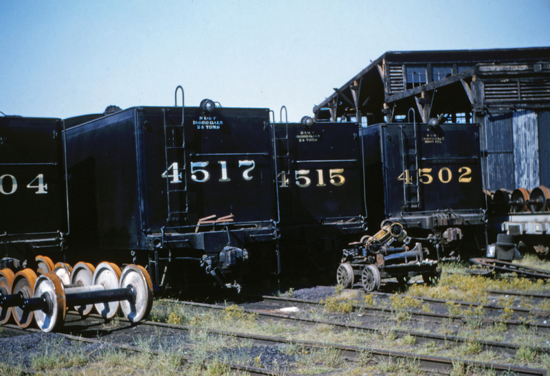 SLSF 46 - Aug 29 1954 - tenders to No 4504 - 4517 - 4515 & 4502 - St Louis MO