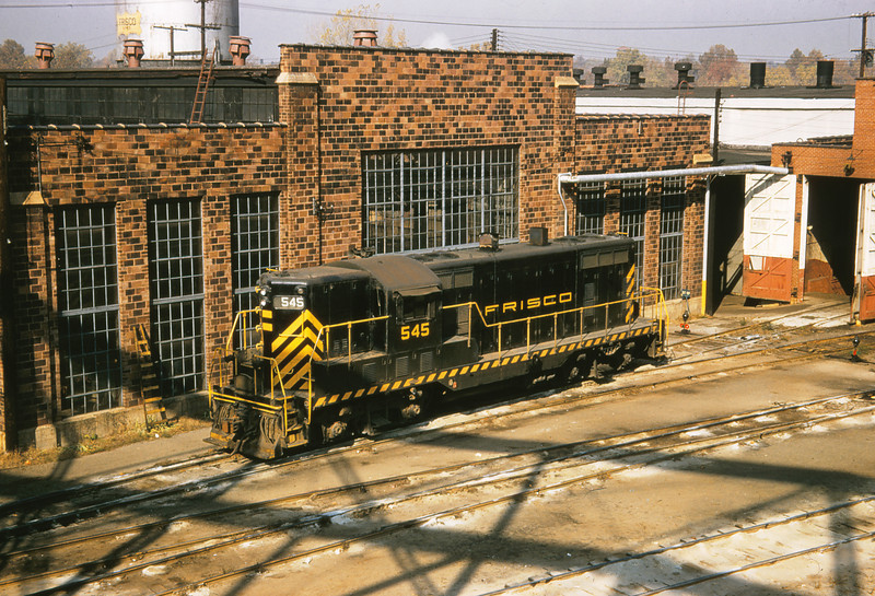SLSF 102 - Oct 31 1957 - GP 7 no  545 @ Lindenwood St  Louis MO
