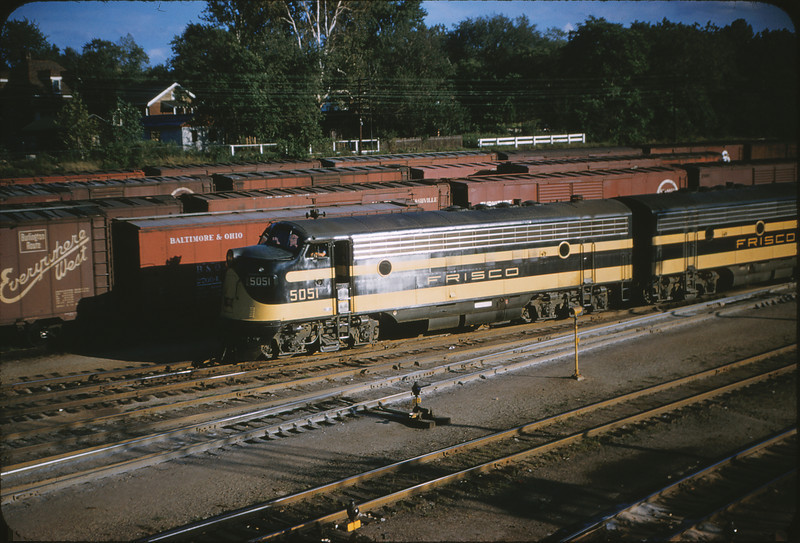 SLSF 6 - Aug 22 1954 - EMD no  5051 in Lindenwood MO