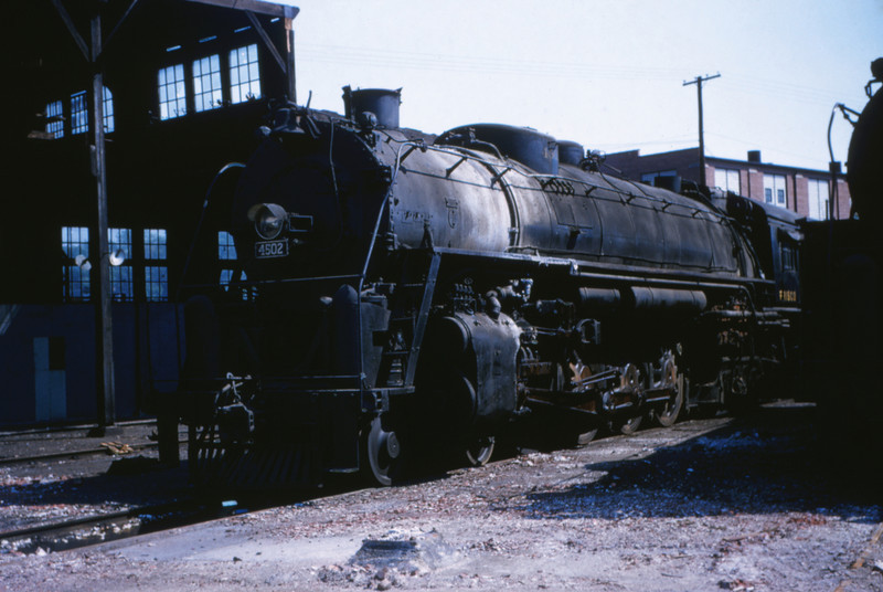 SLSF 39 - Aug 29 1954 - No 4502 4-8-4 @ Lindenwood St Louis MO