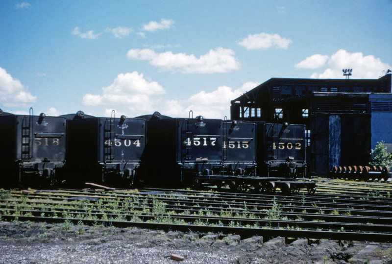 SLSF 69 - May 30 1955 - steam engines at Frisco Yard Lindenwood MO