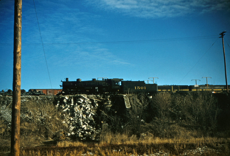 SLSF 66 - Feb 8 1955 - No 1501 4-8-2 at Lindenwood MO