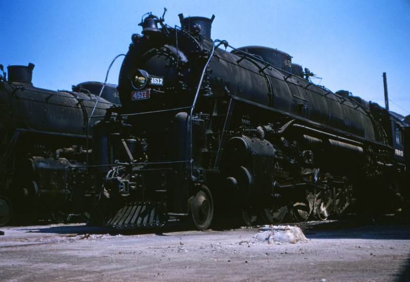 SLSF 29 - Aug 29 1954 - No 4517 4-8-4 at Lindenwood Division MO