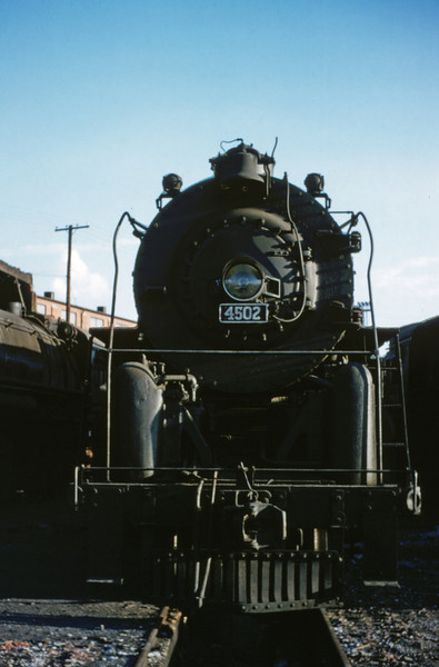 SLSF 20 - Aug 22 1954 - No 4502 4-8-4 at Lindenwood St Louis MO