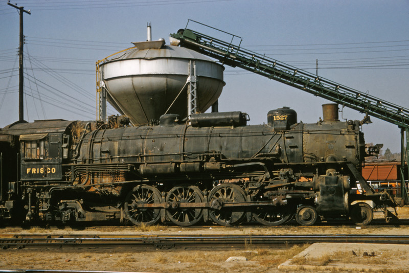 SLSF 95 - Oct 31 1957 - No 1527 4-8-2 at Lindenwood St Louis MO