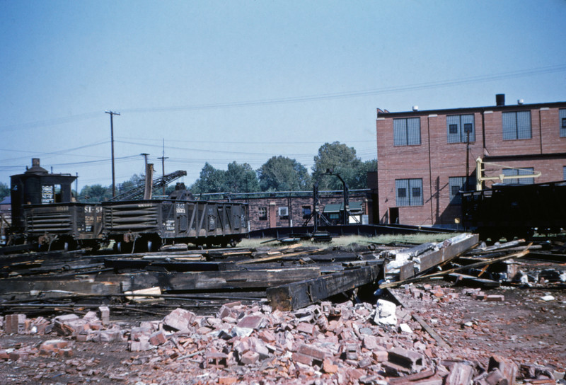 SLSF 48 - Aug 29 1954 - razed roundhouse at Lindenwood St Louis MO