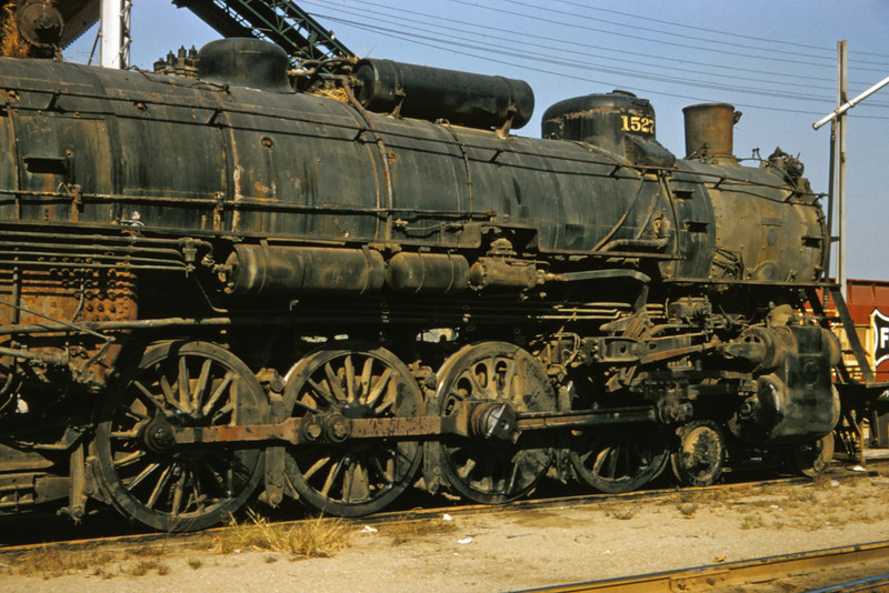 SLSF 94 - Oct 31 1957 - No 1527 4-8-2 at Lindenwood St Louis MO