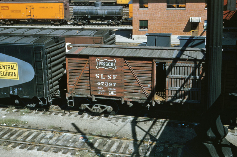 SLSF 79 - Sep 24 1956 - stock car 47397 built in 1910 - Ewing Ave St Louis MO