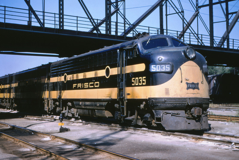 Frisco 49 - Aug 29 1954 - EMD freight engine No  5035 near St