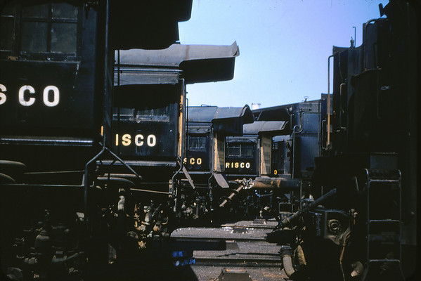 SLSF 31 - Aug 29 1954 - Steam Engines Boarded up at Lindenwood MO