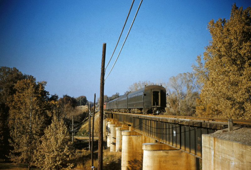 SLSF 57 - Nov 7 1954 - Train 105 northbound at MP 12-5 south of St Louis MO