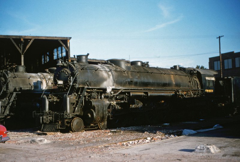 SLSF 18 - Aug 22 1954 - No 4515 4-8-4 at Lindenwood St Louis MO