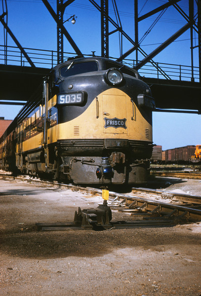 SLSF 51 - Aug 29 1954 - EMD no  5035 at Linderwood Yards St Louis MO