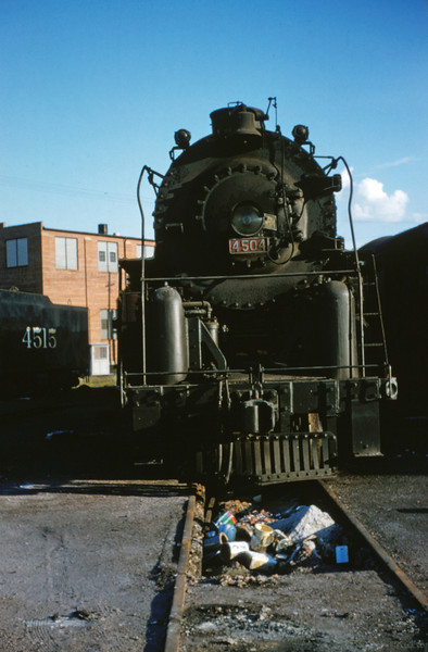SLSF 19 - Aug 22 1954 - No 4504 4-8-4 at Lindenwood St Louis MO