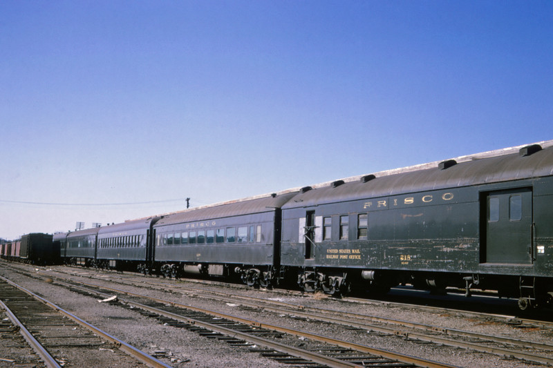 SLSF 121 - Oct 25 1965 - stored passenger equipment @ Springfield MO