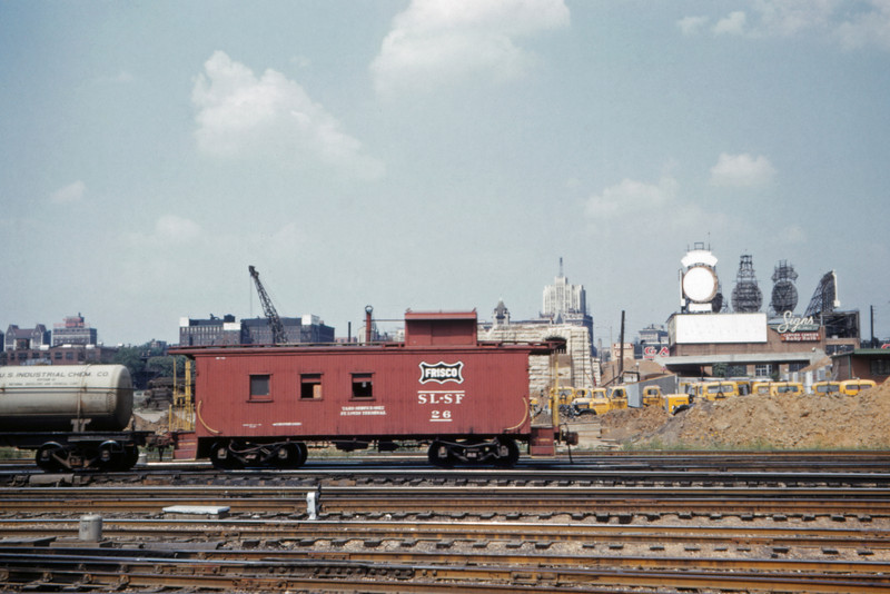 SLSF 115 - Sep 4 1960 - Caboose 26 at Grand Ave St Louis MO