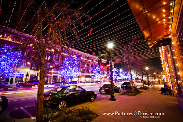 Christmas Lights in Downtown Frisco, Texas