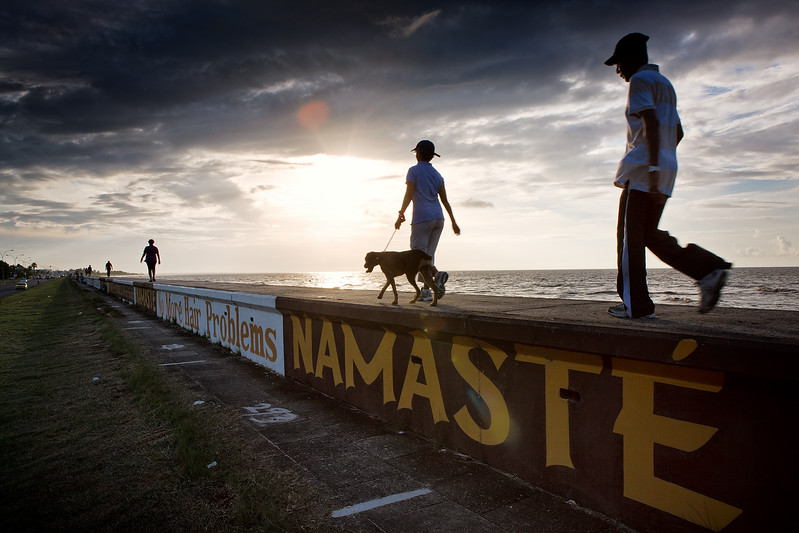 People walking on the Sea Wall