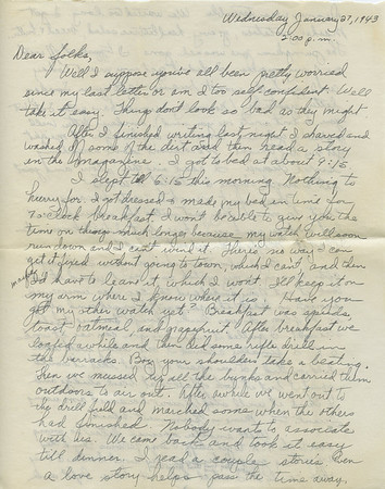 "1943-01-27 ""Thinking Too Fast For My Pen"""