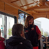 Our trolley guide and driver
